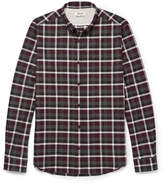 Acne Studios Isherwood Button-down Collar Checked Cotton-flannel Shirt - Merlot