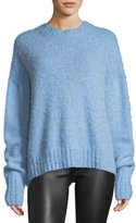 Helmut Lang Crewneck Brushed Wool Pullover Sweater