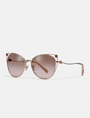 Coach Tea Rose Cat Eye Open Sunglasses