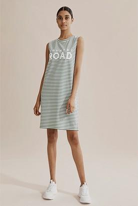 Country Road Verified Australian Cotton Stripe Modern Logo Tank Dress