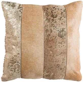 Safavieh Blair Metallic Cowhide Pillow
