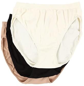 Jockey Comfies Micro Classic Fit French Cut 3PK (Ivory/Black/Light) Women's Underwear