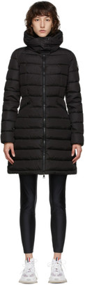 Moncler Black Down Flammette Coat