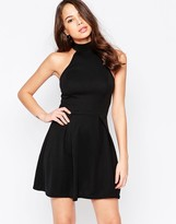 AX Paris Skater Dress with Cut in Neck