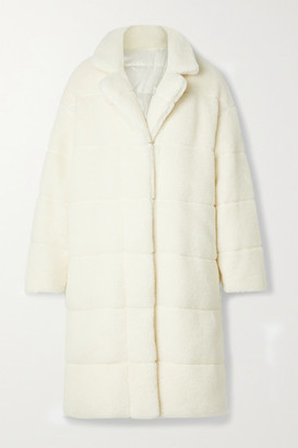 Moncler Bagaud Reversible Quilted Faux Shearling And Shell Down Coat - Ivory