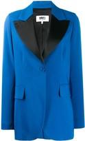 MM6 MAISON MARGIELA contrast lapel blazer