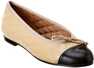 French Sole Lyon Leather Flat