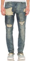 C2H4 Distressed Stonewashed Jean