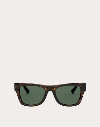 Valentino Rectangular Acetate Frame With Vlogo Man Brown Acetate 100% OneSize