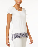 Maison Jules Border-Print T-Shirt, Only at Macy's