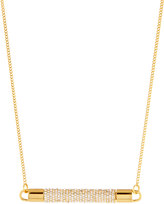 Vita Fede Mia Gold-Dipped Crystal Bar Necklace