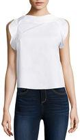 BELLE + SKY Sleeveless Ruffled Shirt