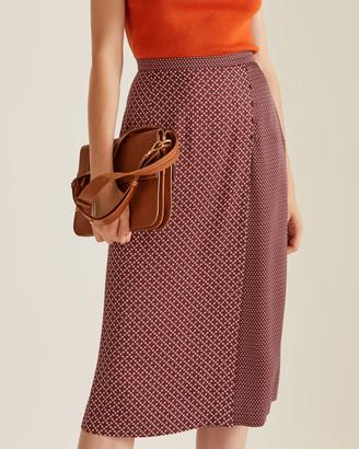 Jigsaw Grid Daisy Wrap Skirt