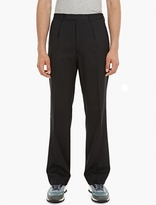 Valentino Black Wide-Leg Wool Trousers