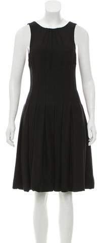 Chanel Pleated Knee-Length Dress