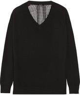 Raoul Silk-chiffon intarsia-paneled cashmere sweater