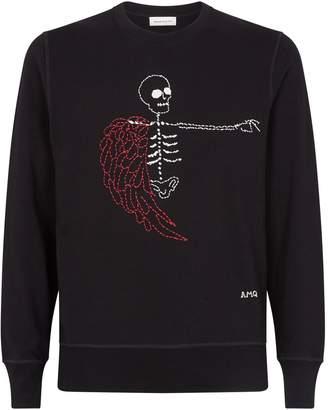 Alexander McQueen Embroidered Skeleton Sweatshirt