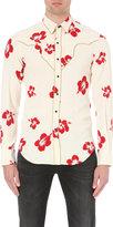 Saint Laurent Regular-fit Hibiscus Print Crepe Shirt