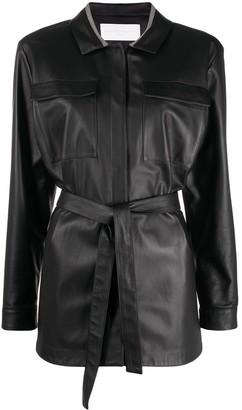 Fabiana Filippi Leather Wrap Jacket