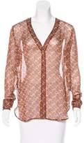 Elizabeth and James Long Sleeve Button-Up Blouse