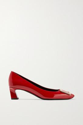 Roger Vivier Decollete Trompette Patent-leather Pumps - Red