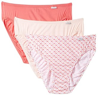 Jockey Elance(r) Supersoft French Cut 3-Pack (Retrospective/Invisible Pink/Tulipa) Women's Underwear