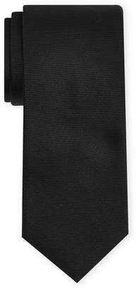 Salvatore Ferragamo Black Solid Silk Tie