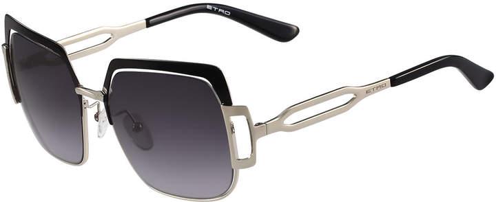 Etro Capped Gradient Square Sunglasses