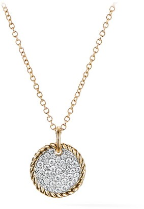 David Yurman Cable Collectibles Pave Charm with Diamonds in Gold