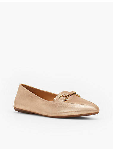 Thumbnail for your product : Talbots Francesca Driving Moccasins - Gold Buckle Metallic