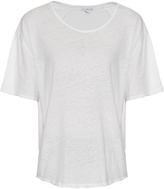 James Perse Short-sleeved linen and cotton-blend T-shirt