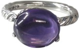 David Yurman Stack Classic Sterling Silver Amethyst Cable Ring Size 7