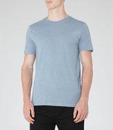 Reiss Reiss Bless Marl - Crew Neck T-shirt In Blue