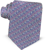 Missoni Optical Printed Silk Narrow Tie