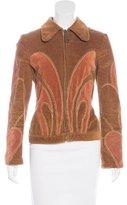 Dolce & Gabbana Suede-Trimmed Corduroy Jacket