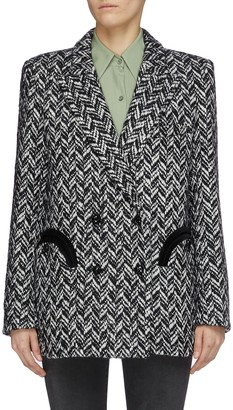 BLAZÉ MILANO Pokusa Everynight' double breast herringbone blazer