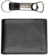Original Penguin Leather Bifold Wallet with Bottle Opener Keychain