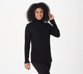 Susan Graver Weekend Ribbed Sweater Knit Turtleneck Tunic