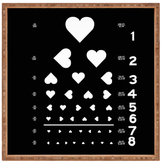 DENY Designs Love Eye Test Large Square Tray