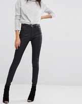 DL1961 Jessica Alba X DL No.1 Super Skinny Ultra High Rise Coated Jean