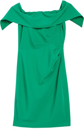 Marina Off-the-Shoulder Popover Ruched Sheath Dress