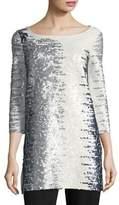 Joan Vass Sequin Cotton Tunic