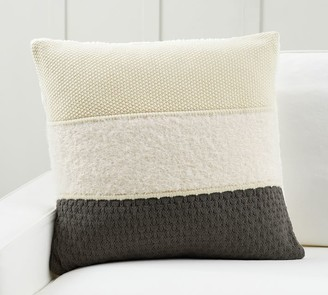 Pottery Barn Blakely Textured Striped Pillow Cover