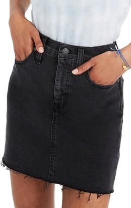 Madewell Stretch Denim Mini Skirt (Regular & Plus Size)