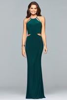 Faviana 10014 Halter Neck Jersey Sheath Dress