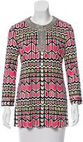 Tory Burch Silk Embellished Tunic w/ Tags