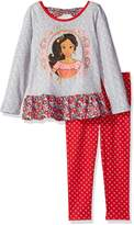 Disney Little Girls' 2 Piece Elena of Avalor Space Dye Legging Set