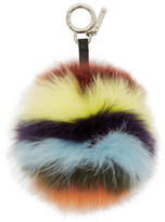 Fendi Multicolor Pompom Keychain