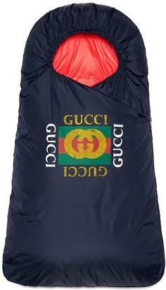 Gucci Kids Baby footmuff with Gucci logo