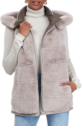 Gorski Reversible Rabbit Fur Vest